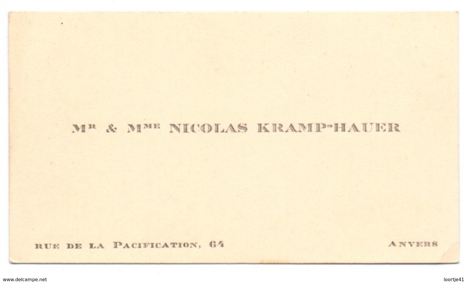 Visitekaartje - Carte Visite - Mr & Mme Nicolas Kramp - Hauer - Anvers Antwerpen - Cartoncini Da Visita