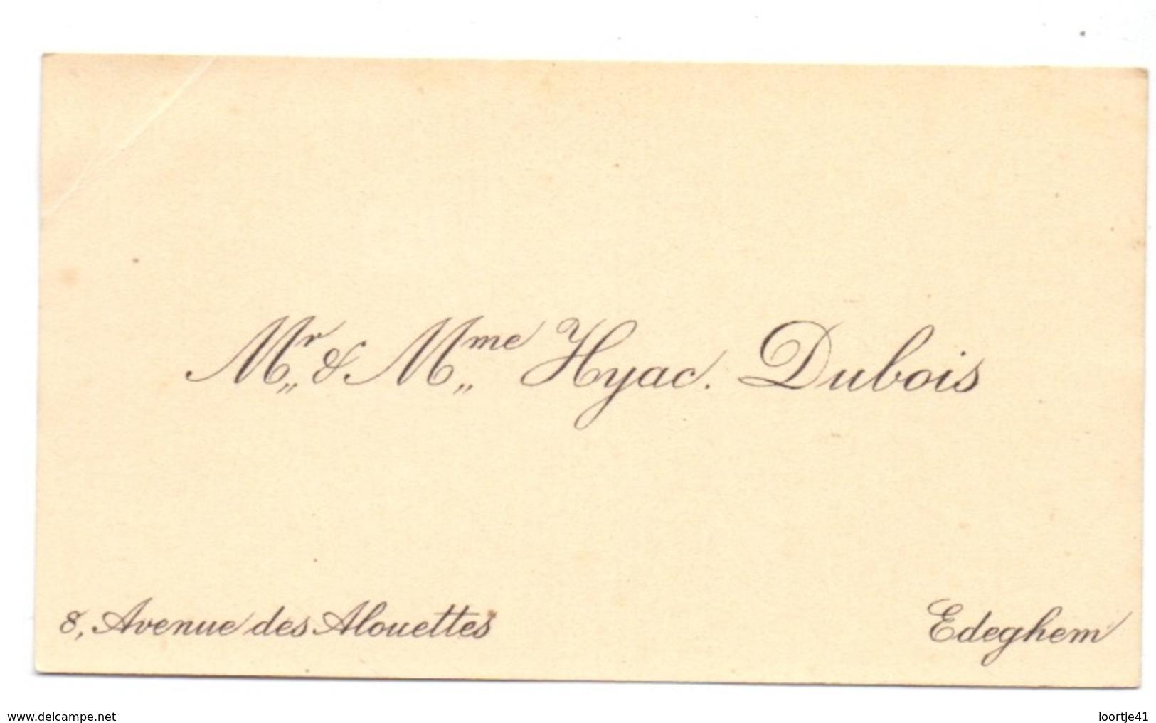 Visitekaartje - Carte Visite - Mr & Mme Hyac. Dubois - Edegem - Cartoncini Da Visita