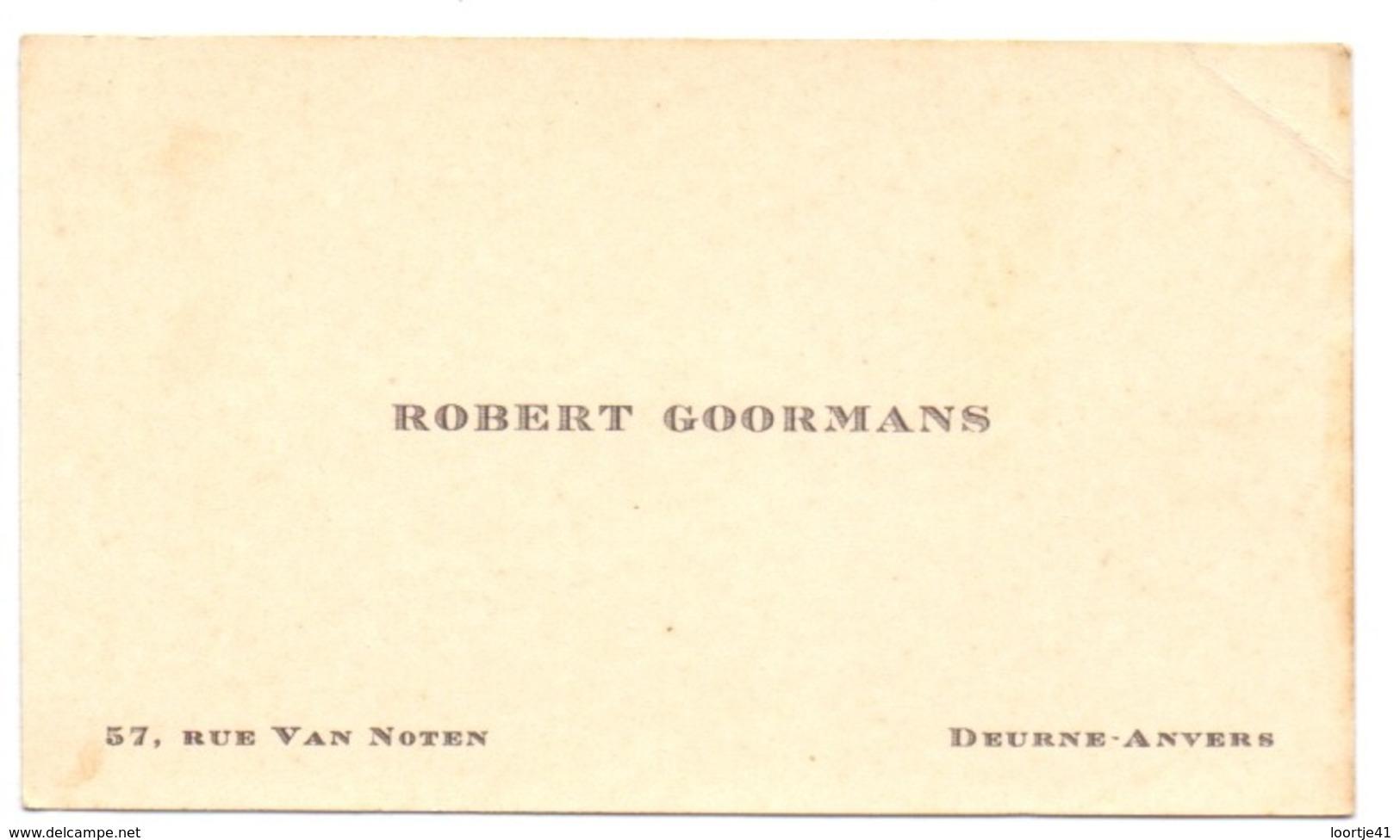 Visitekaartje - Carte Visite - Robert Goormans - Deurne Antwerpen - Cartoncini Da Visita