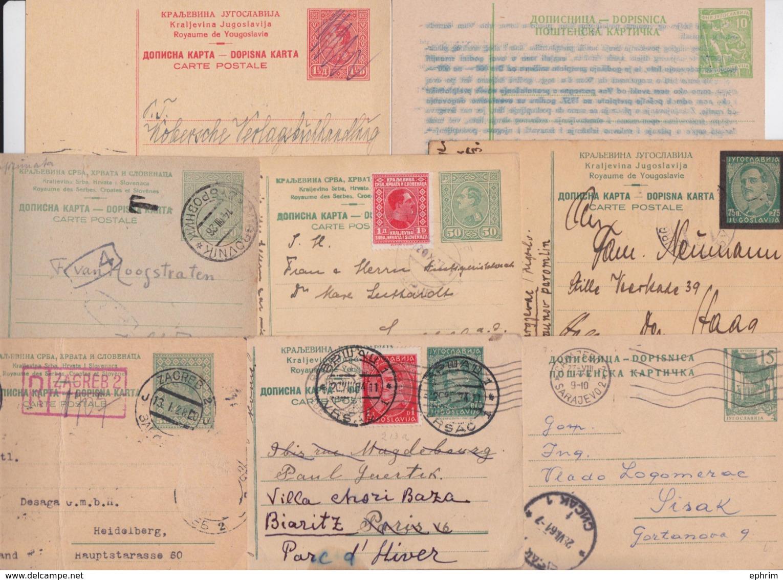 CARTE ENTIER POSTAL YOUGOSLAVIE DOSPINA KARTA JUGOSLAVIJA LOT DE 17 ENTIERS POSTAUX VRSAC MOSTAR SRBOBRAN SARAJEVO... - Postal Stationery