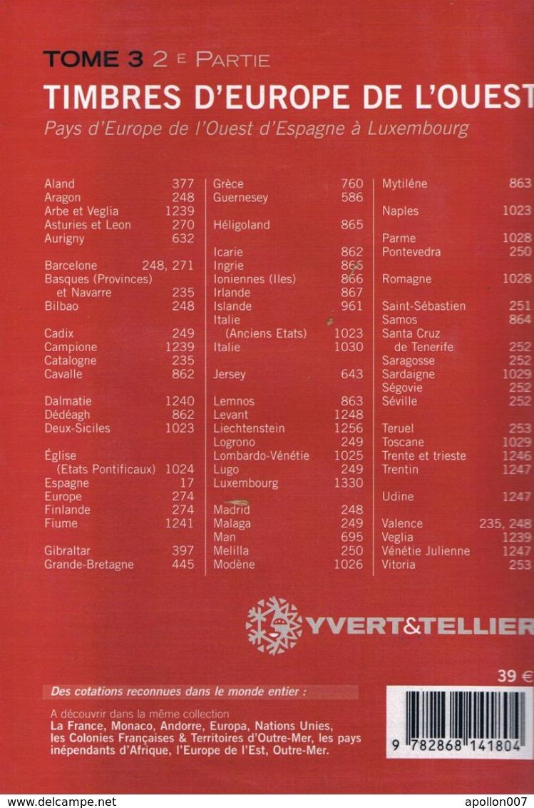 Catalogue Y Et T Europe De L'ouest 2e Partie 2008. - Frankreich