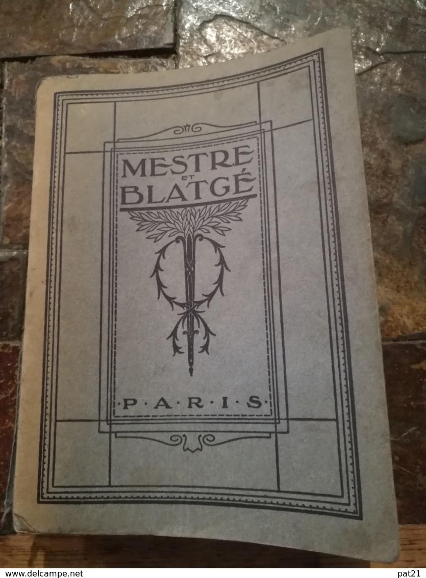 Catalogue MESTRE Et BLATGE    N° 50  RARISSIME:  1188 Pages  Auto Moto Velo Photo Phono .........et .bien D'autres Rimes - 1901-1940