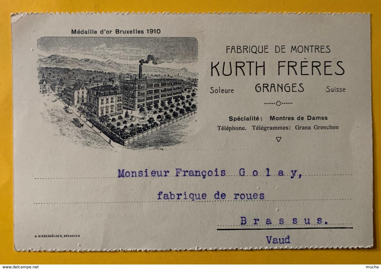 9221  -  Fabrique De Montres Kurth Frères Granges 1914 - SO Soleure