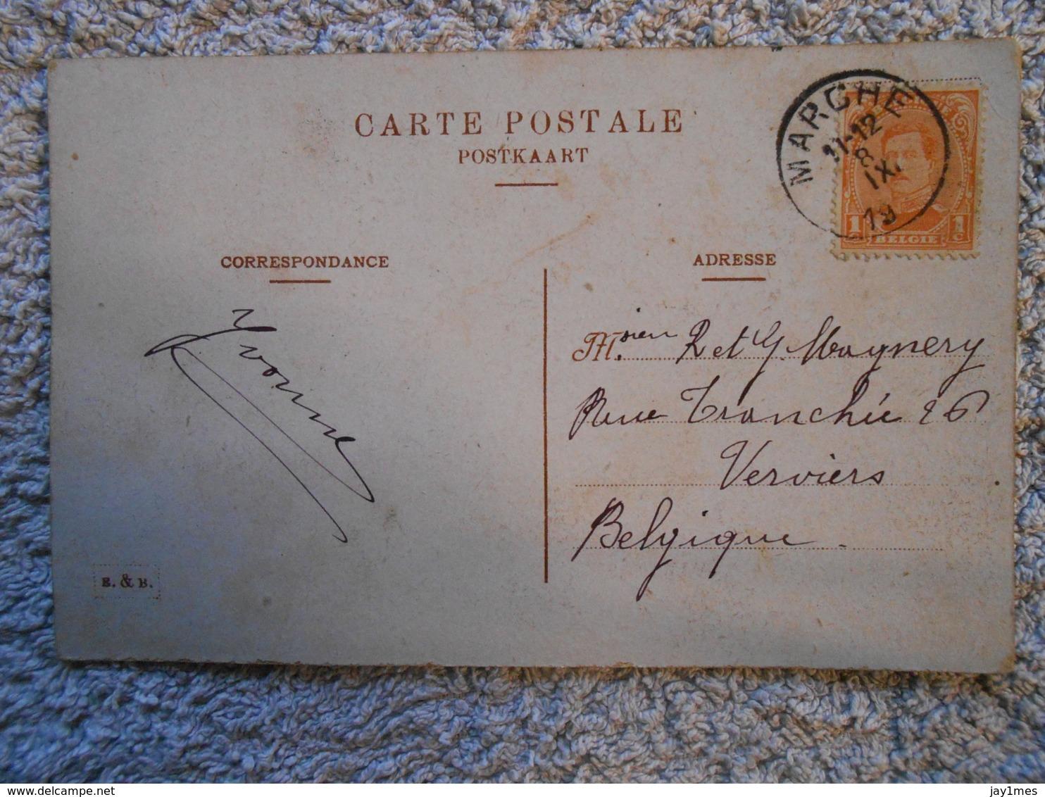 Cpa Marche En Famenne  Residence Des Carmes 1919 - Marche-en-Famenne
