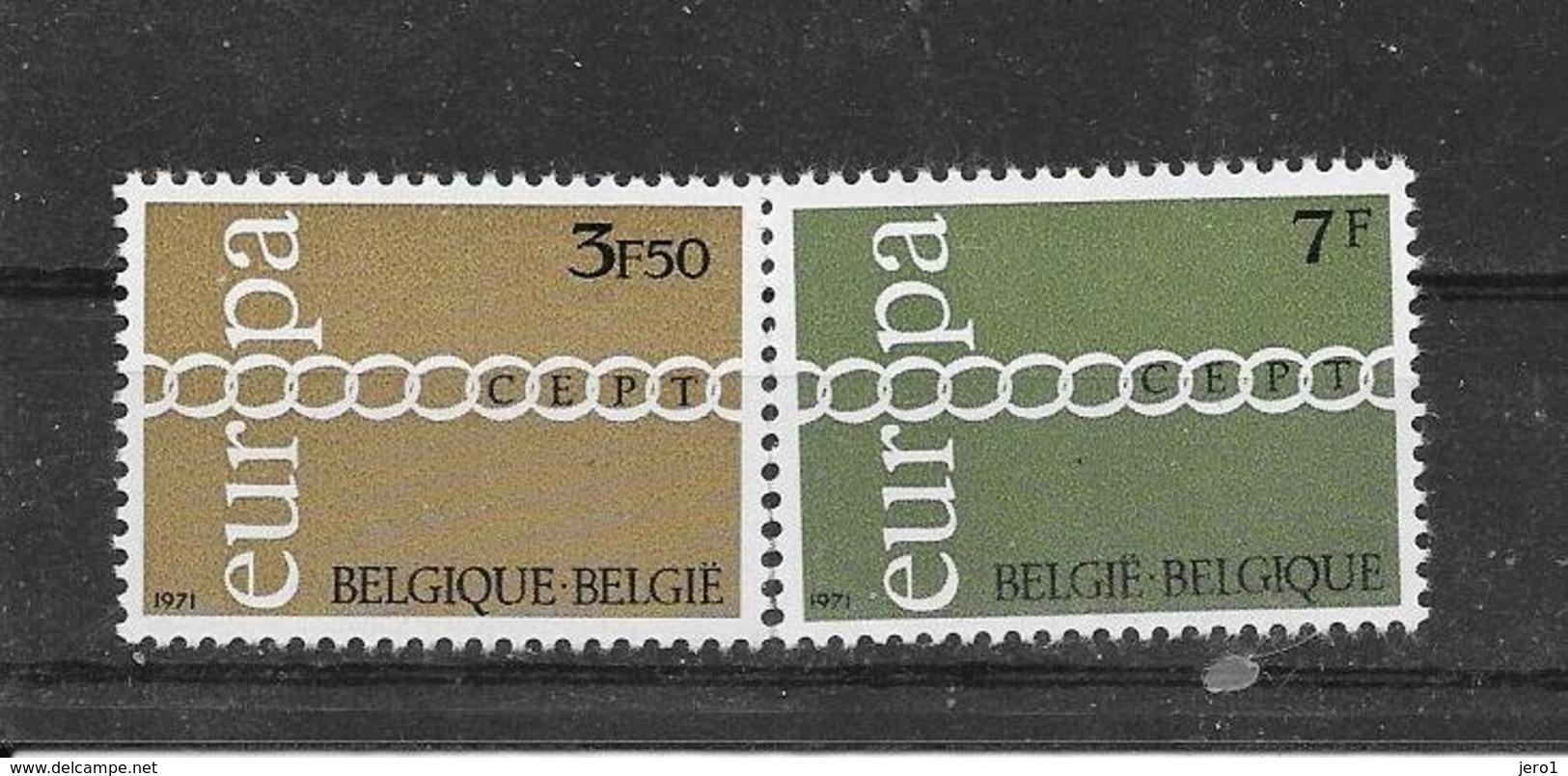 België 1971 Y&T Nr° 1578/79 (**) - Belgium