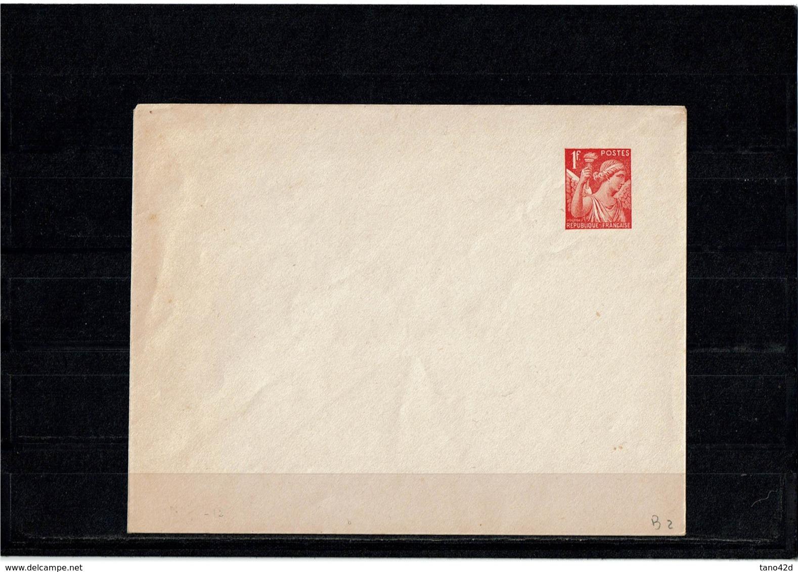 LCTN58/5 - ENV IRIS 1f NEUVE - Postal Stamped Stationery