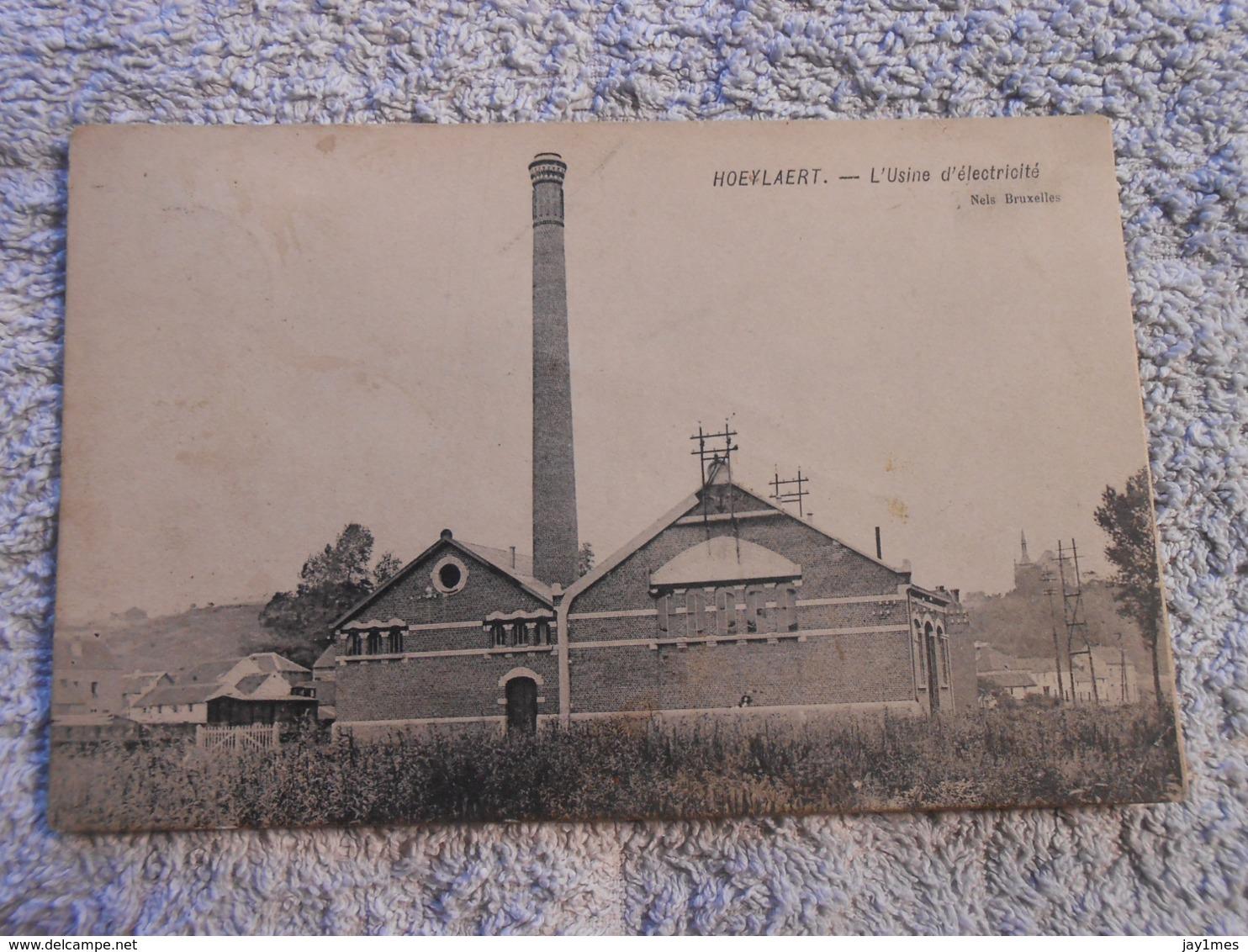 Cpa  Hoeylaert Hoielaart Usine Electricite - Tervuren