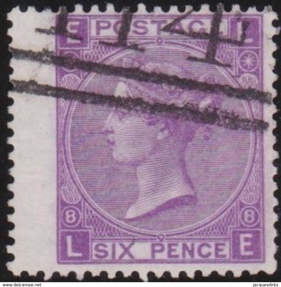 Great Britain  . Yvert  .  34   .   (1867-69)  .  Tige De Rose   .  O  .   Cancelled      .   /  .   Gebruikt - Oblitérés