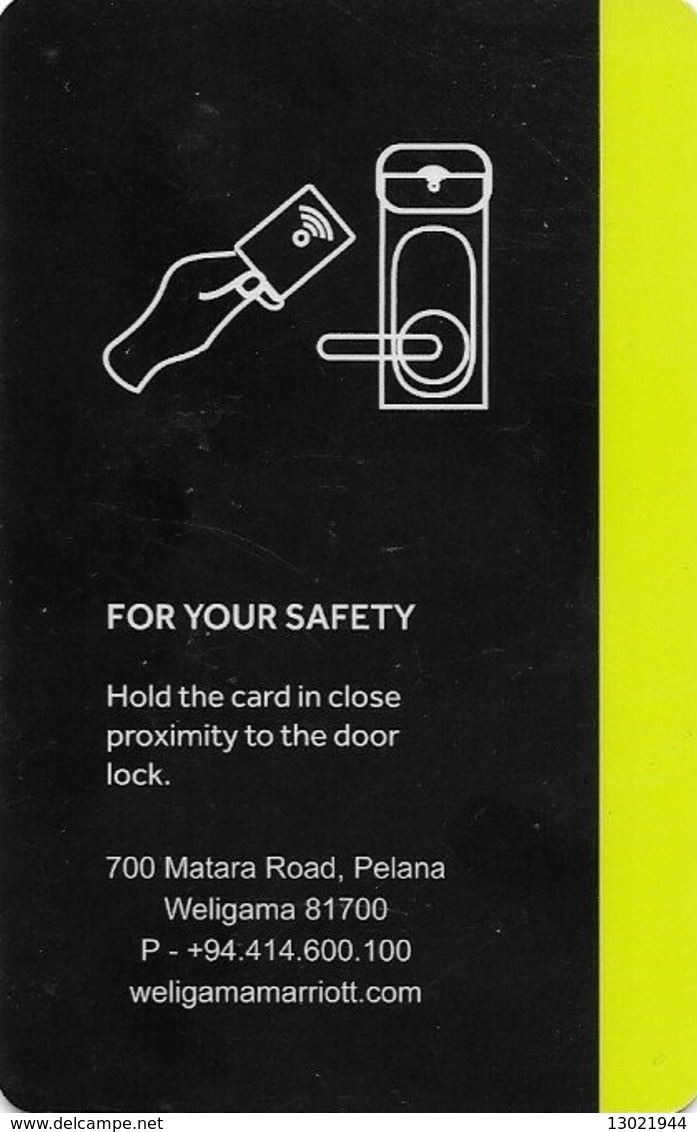 SRI LANKA KEY HOTEL  Marriott Resort Weligama Bay - Hotelkarten