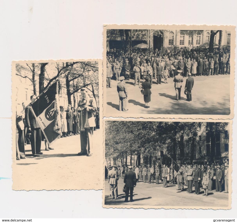 3 FOTOS  HULDE AAN DE ONTMIJNERS - Guerre 1939-45