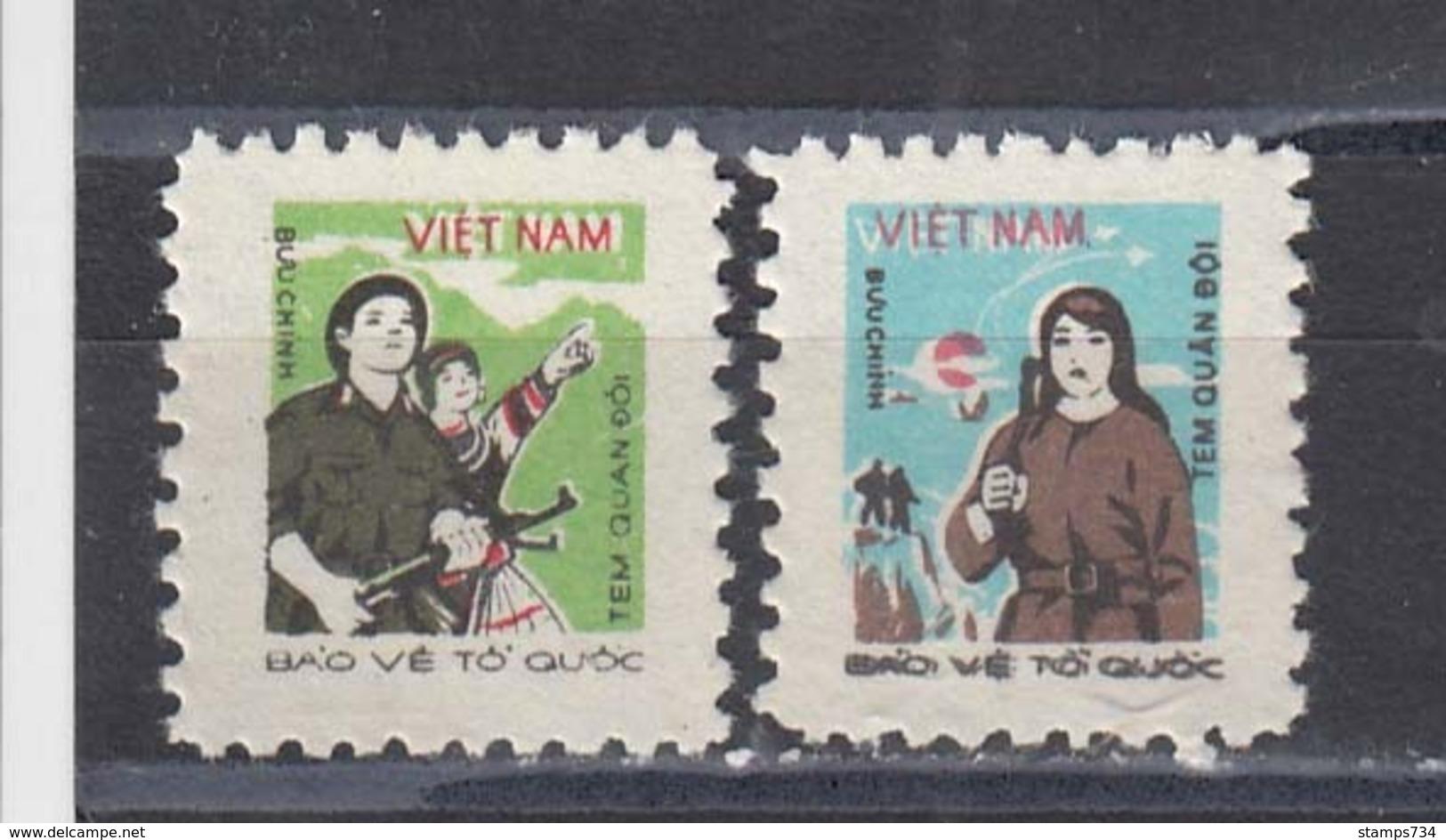 Vietnam 1982 - Army And Militia, Portofreiheitsmarken Mi-Nr. 37/38, MNH** - Vietnam