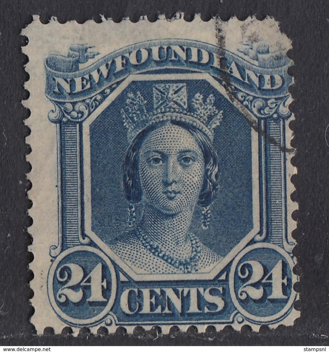 Newfoundland - 1866-71 - 24c Yv.26 - Used - Newfoundland