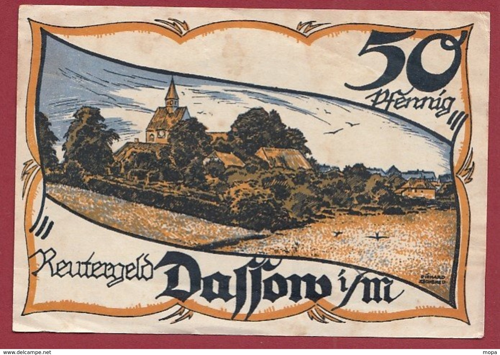 Allemagne 1 Notgeld 50 Pfenning Stadt Dassow (Série Complète)   Dans L 'état Lot N °5129 - Collections
