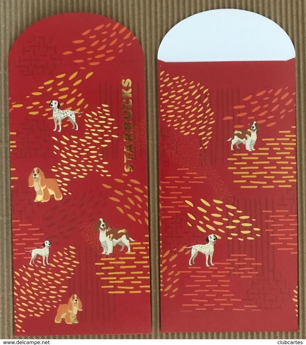 CC Chinese New Year 'STARBUCKS RED YEAR 2018' Red Pocket CNY Chinois - Perfume Cards