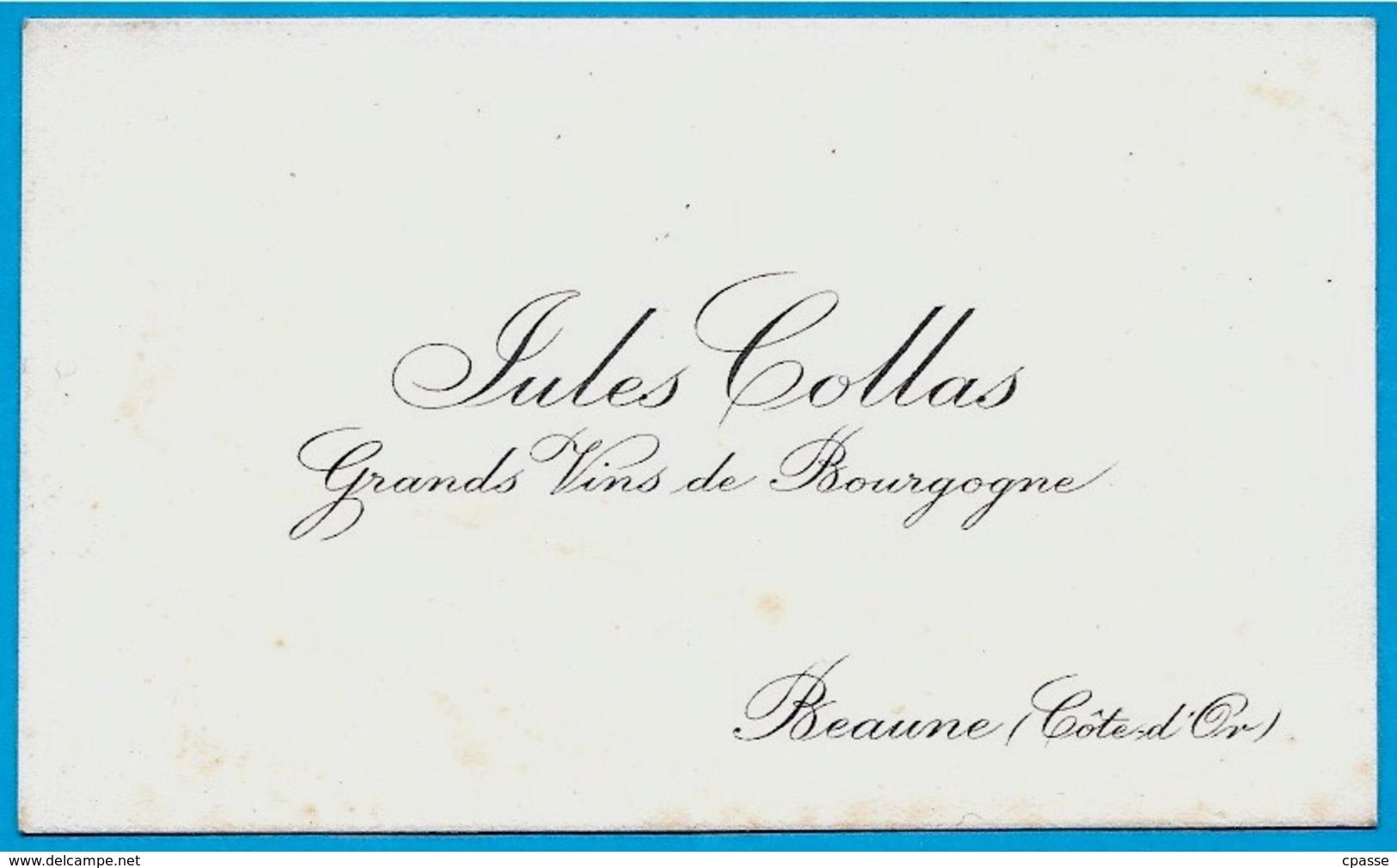 Carte De Visite Commerciale JULES COLLAS Grands Vins De BOURGOGNE (21) BEAUNE - Tarjetas De Visita