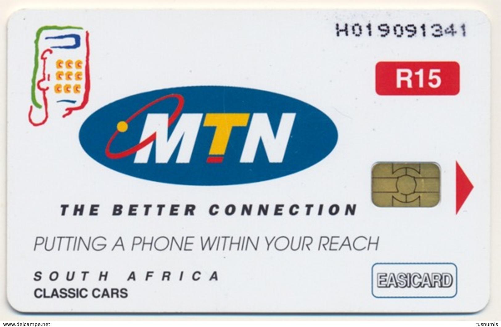 SOUTH AFRICA - AFRIQUE DU SUD MTN 15 R CHIP PHONECARD TELECARTE CLASSIC CARS AUTO SAF-M-108 QTY 100.000 - Afrique Du Sud