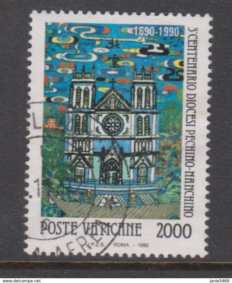 Vatican City S 901 1990 3rd Centenary Of Peking Diocesis, 2000 Lire,used - Vaticano (Ciudad Del)