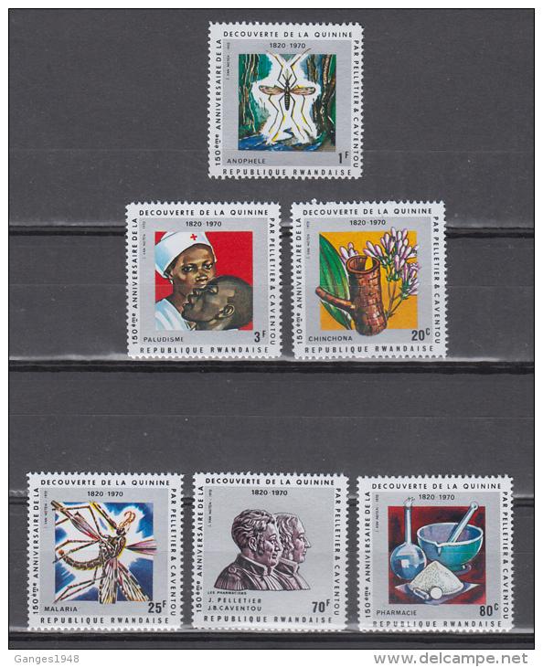Rwandise  1970   150 Th  Anniversary Of Discovery Of Quinine  6v  MNH #  64659   CB & D - Medizin