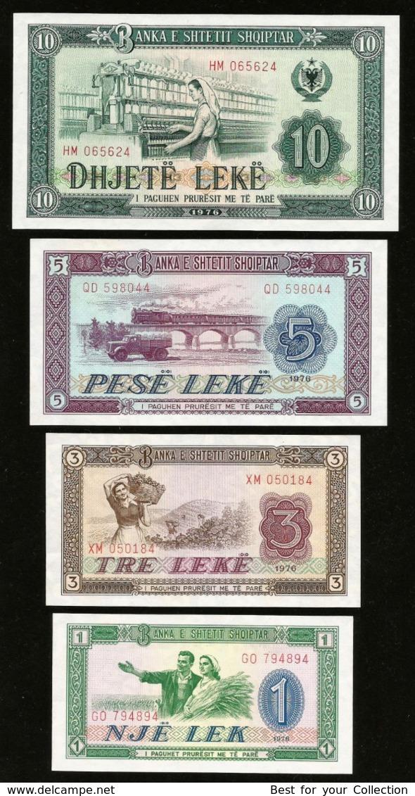 * Albania 1 3 5 10 25 50 100 Leke 1976 ! UNC ! Full Set 7 Ps - Albanien