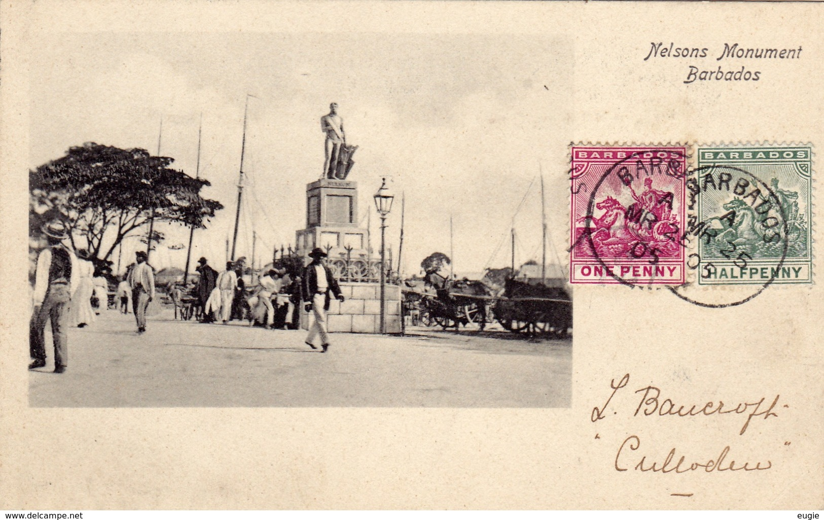 280/ Barbados, Nelsons Monument, 1905 - Barbados