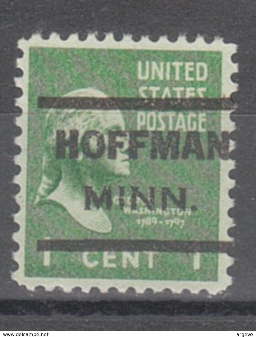 USA Precancel Vorausentwertung Preo, Locals Minnesota, Hoffman 621 - Vorausentwertungen