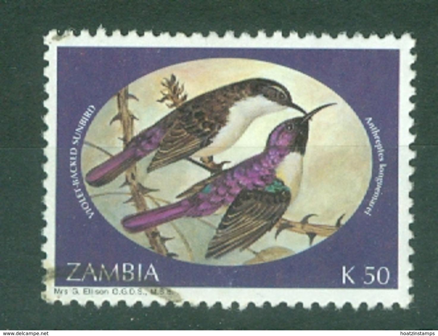 Zambia: 1994   Sunbirds    SG724   K50     Used - Zambia (1965-...)