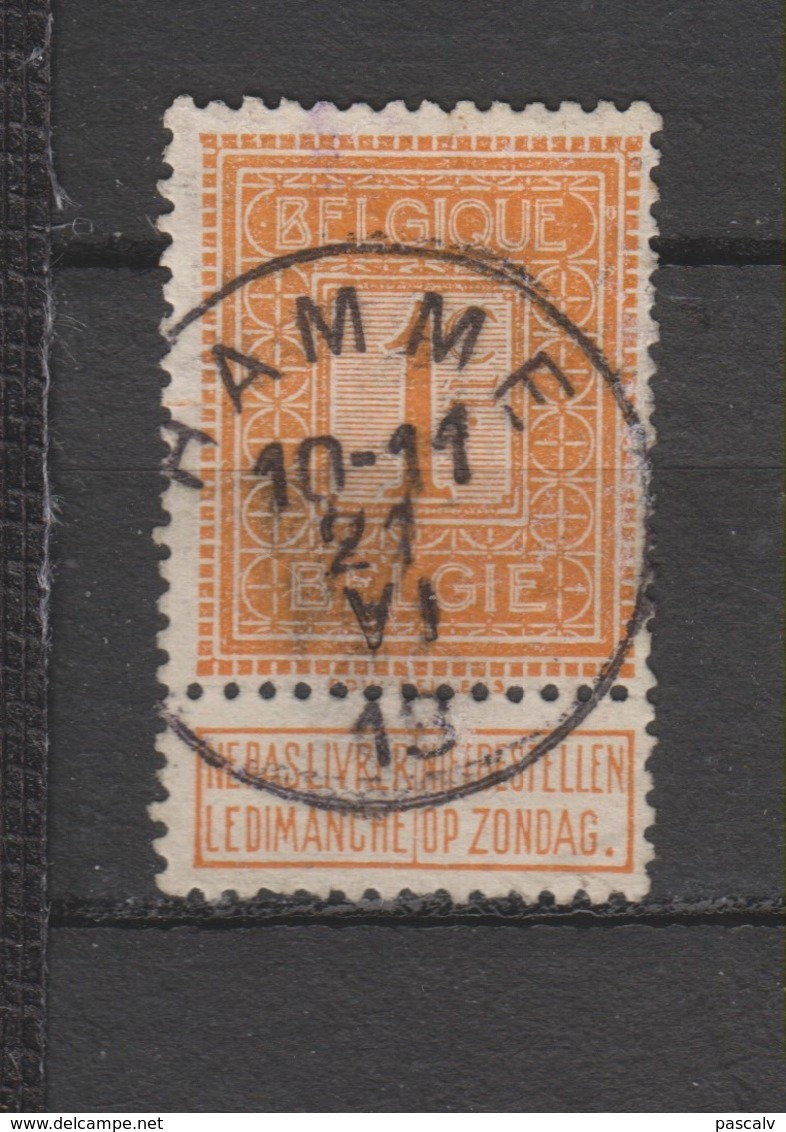 COB 108 Oblitération Centrale HAMME - 1912 Pellens