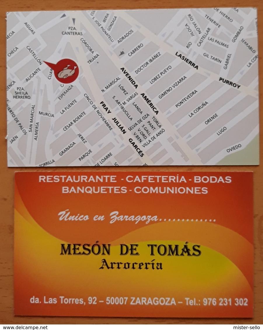 LA DESPENSA ASADOR + ARROCERÍA MESÓN DE TOMÁS. - Visitekaartjes