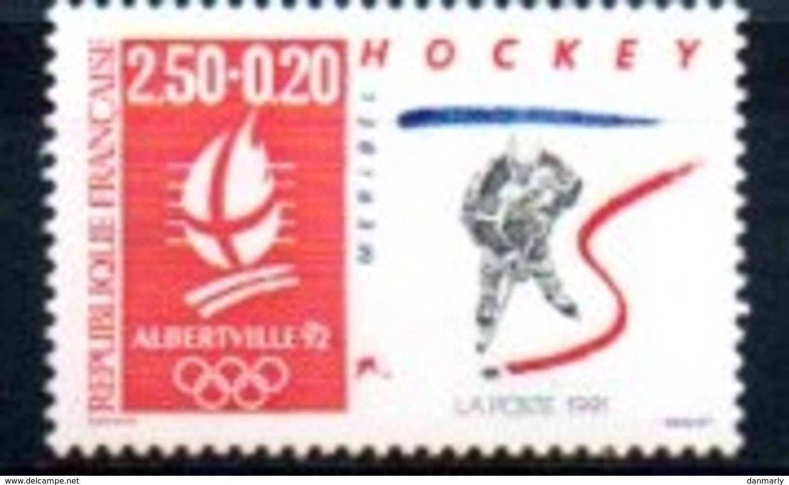 """France 1992 : Timbre N° 2741 Du Feuillet Y&T N° 14  """" Hockey """" - Frankreich"""