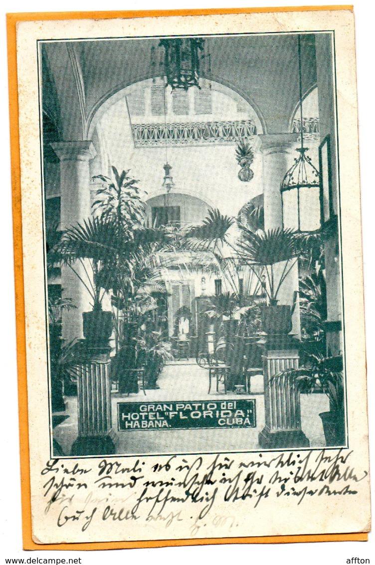 Havana Hotel Florida Cuba 1906 Postcard Mailed - Cuba