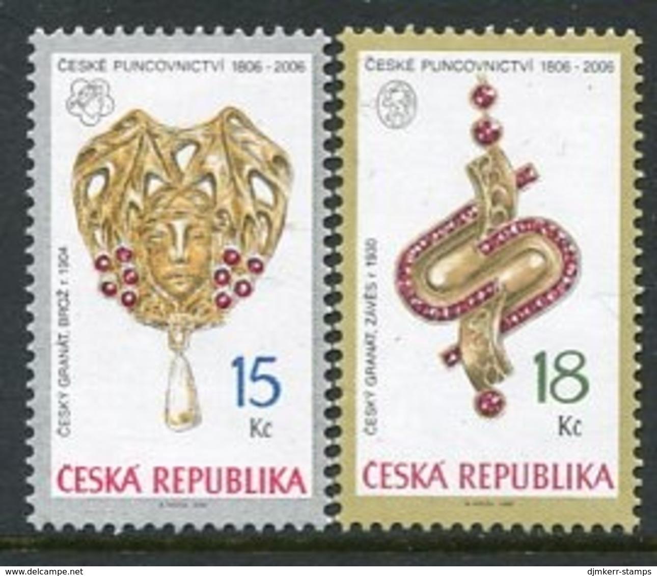 CZECH REPUBLIC 2006 Jewellery, MNH / **.  Michel 481-82 - Repubblica Ceca