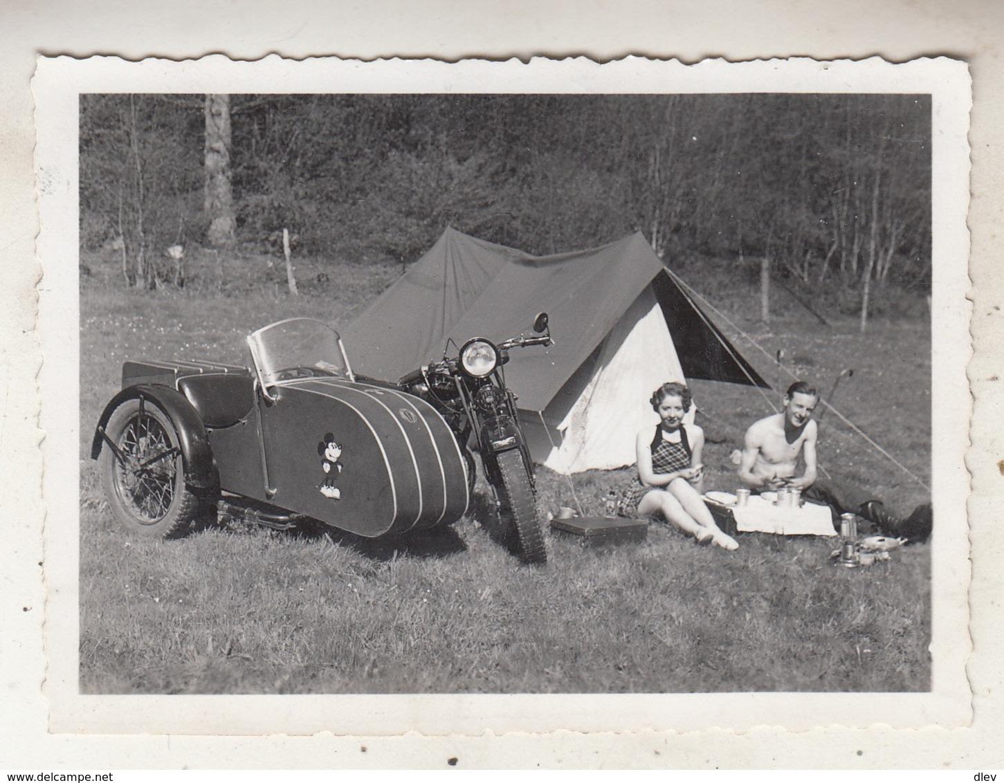 Side-Car - Lesse - 1935 - Photo 6.5 X 9 Cm - Cyclisme