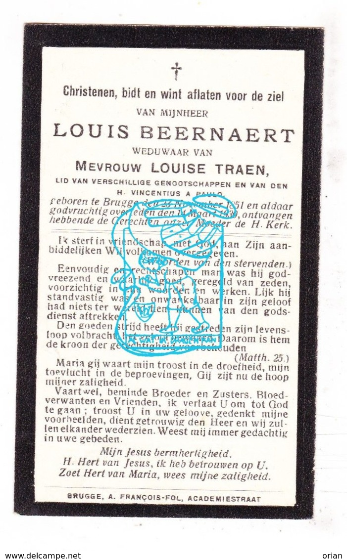 DP Louis Beernaert ° Brugge 1851 † 1930 X Louise Traen - Imágenes Religiosas