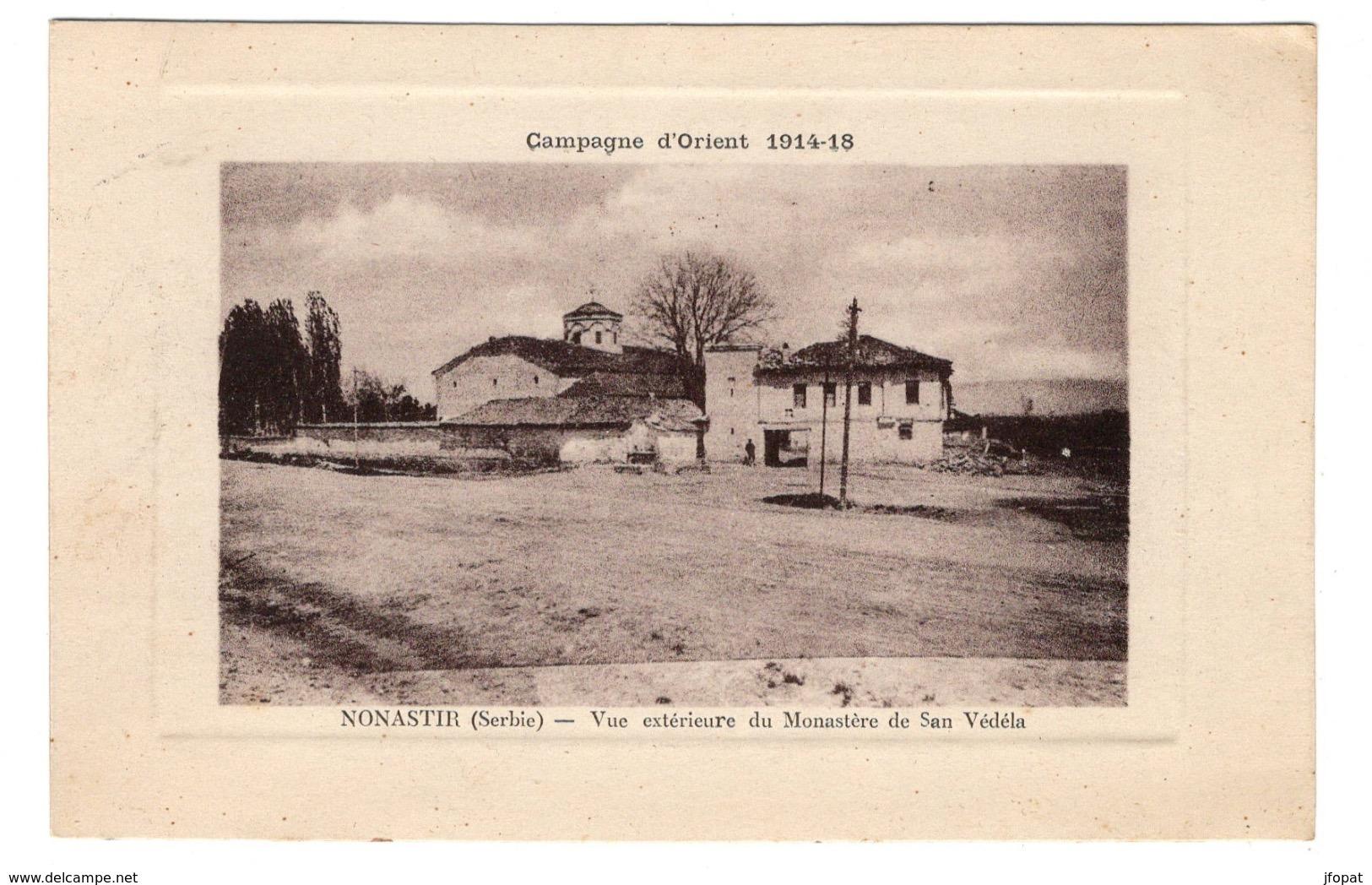 SERBIE - NONASTIR, Vue Extérieure Du Monastère De San Védéla - Serbia