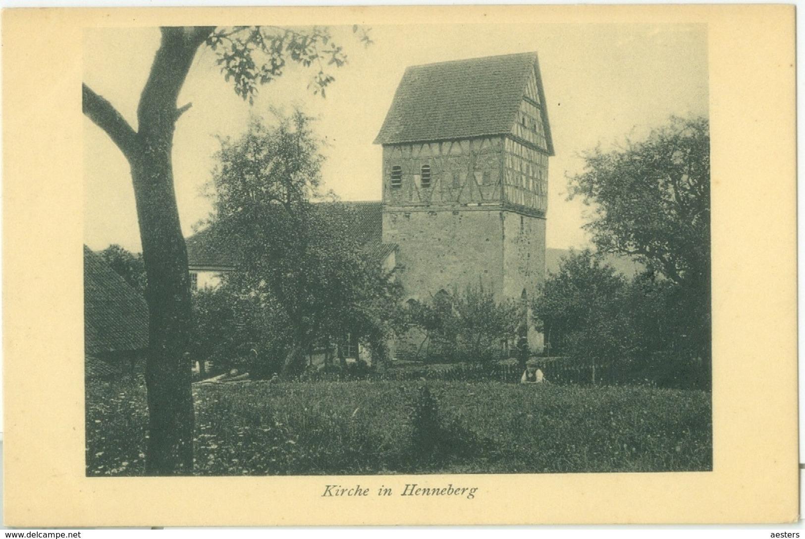 Henneberg; Kirche - Nicht Gelaufen. (Fritz Koch - Meiningen) - Meiningen