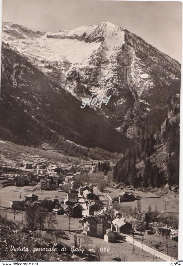 Aosta Gressoney Gaby Veduta Generale Retro Senza Stampa Fg - Italy