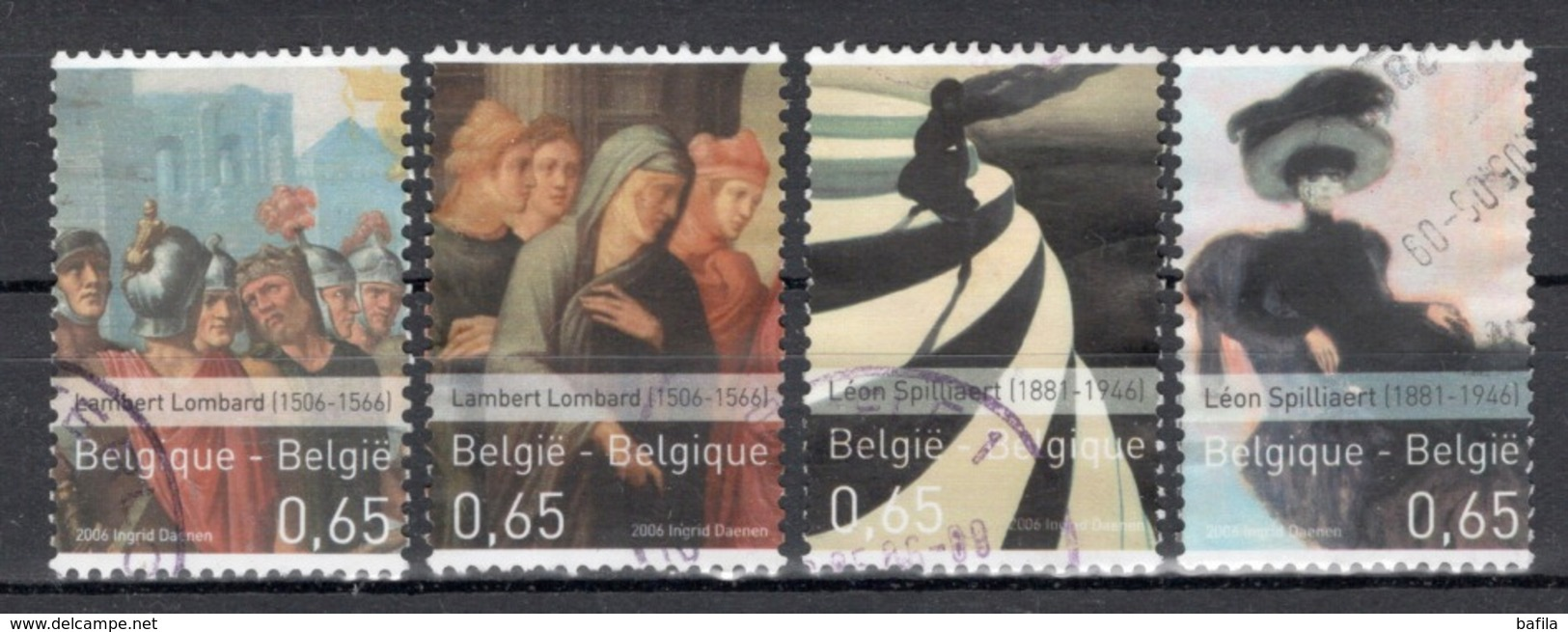 BELGIE: COB 3516/3519 Gestempeld. - Belgium