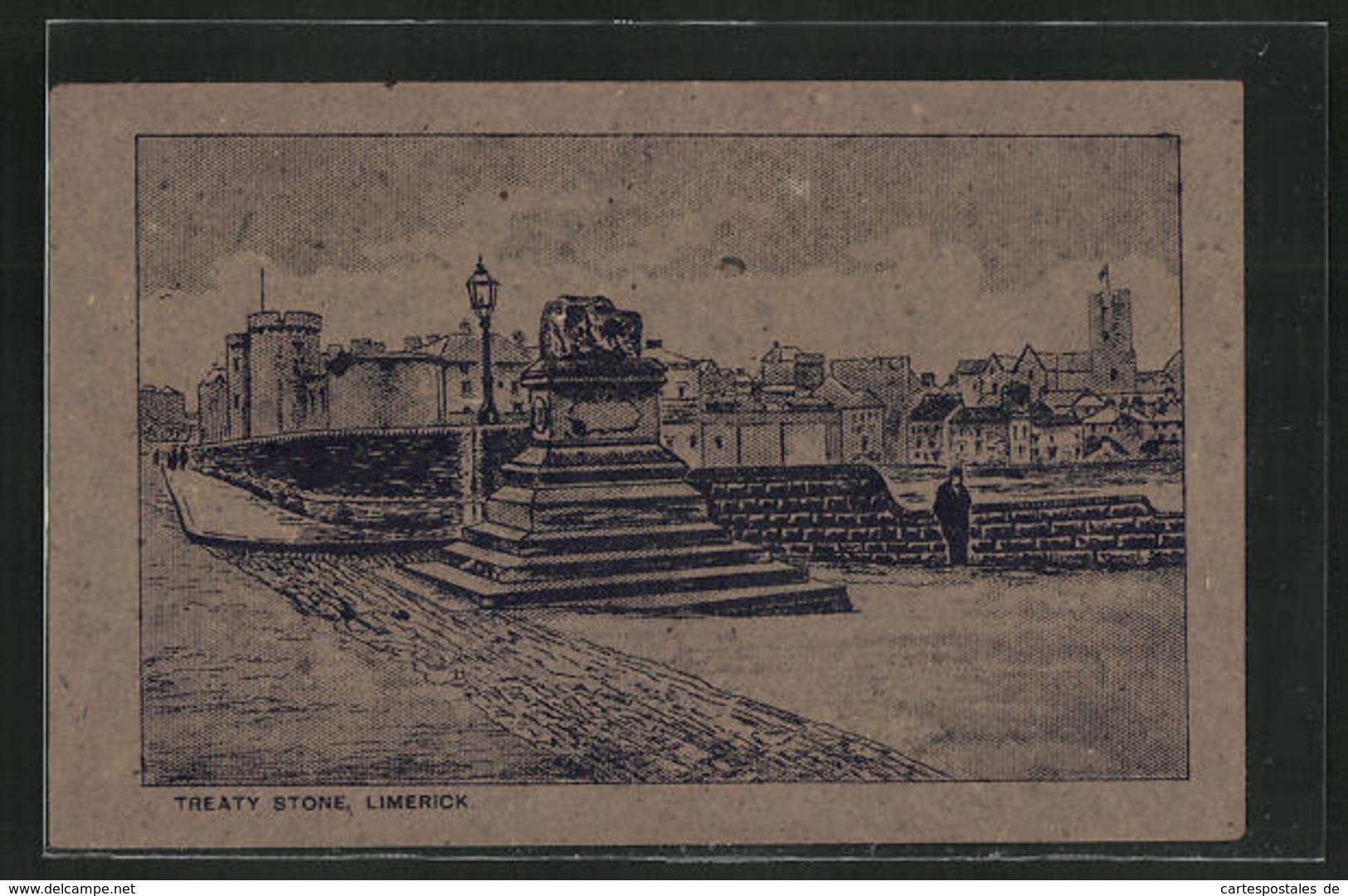 Torfmoos-AK Limerick, Treaty Stone, Denkmal, Irland - Ohne Zuordnung