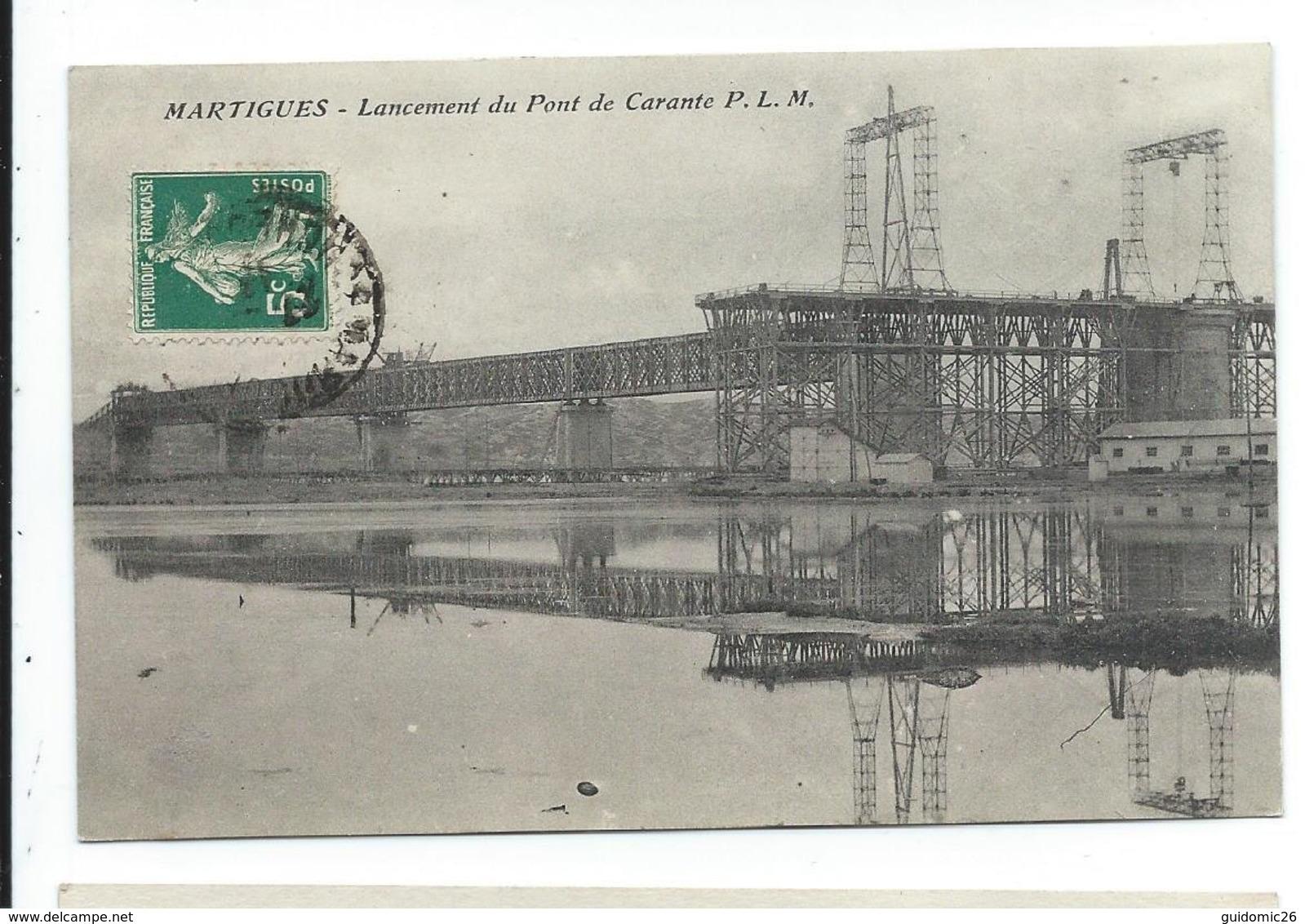 Martigues Lancement Du Pont De Caronte, - Martigues