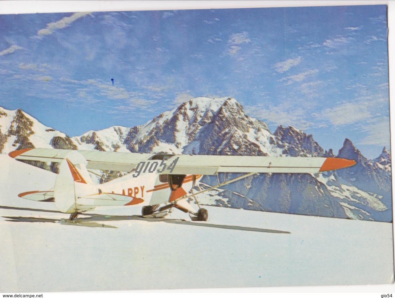 Aosta Courmayeur Monte Bianco Primo Atterraggio Sul Ghiacciaio Lechaud 30 Giugno 1967 Trasporti Aereo Fg - Non Classificati