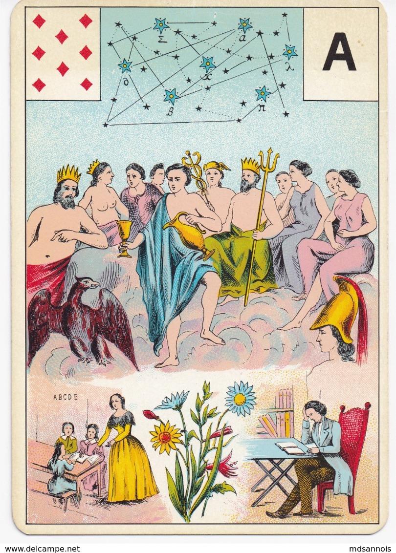 Carte à Jouer 12,8 X 9 Cm Astronomie ? Divination ? Tarot ? Lettre A - Spielkarten