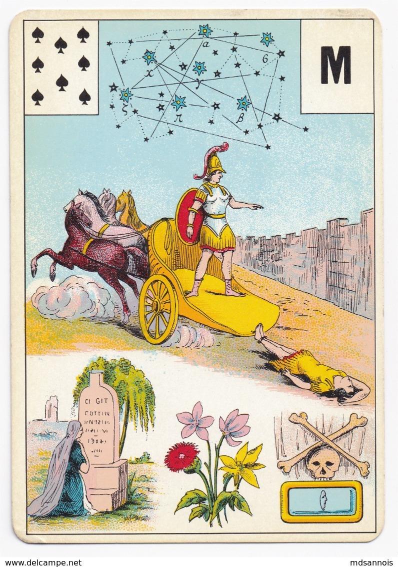 Carte à Jouer 12,8 X 9 Cm Astronomie ? Divination ? Tarot ? Lettre M - Non Classificati
