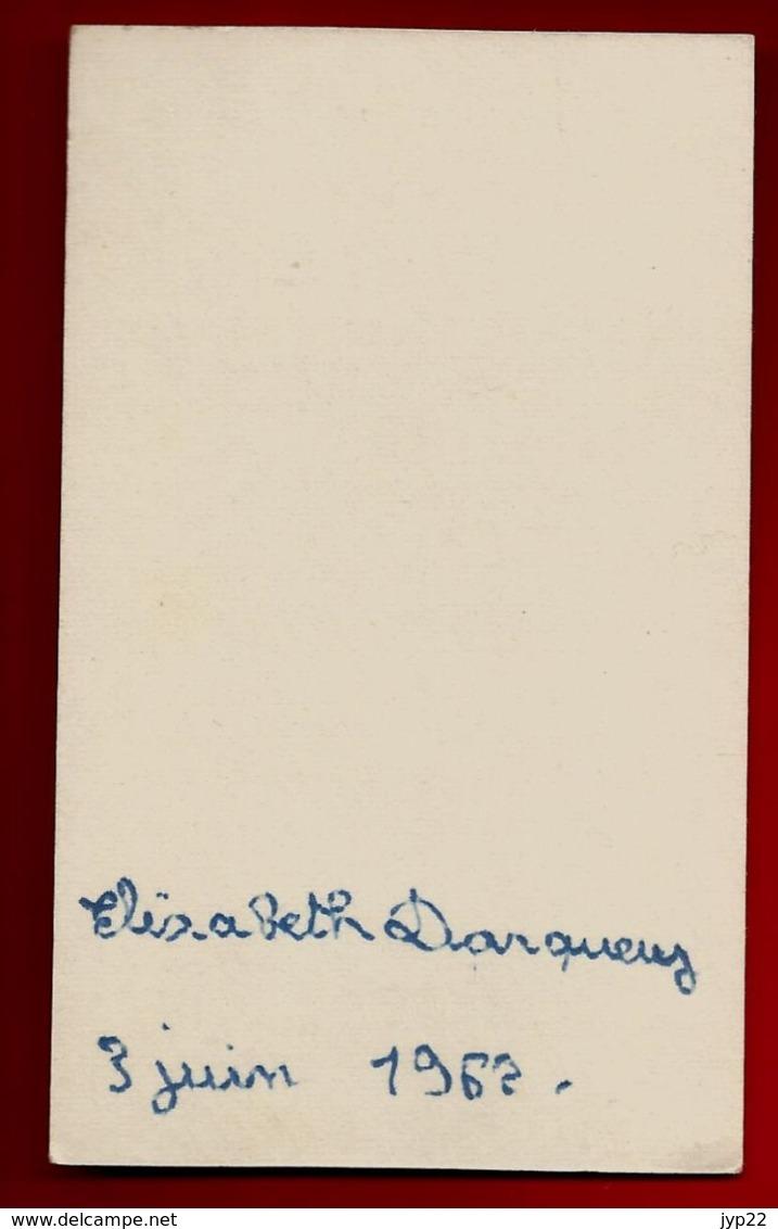 Image Pieuse Religieuse Holy Card Communion Elisabeth Darquey 3-06-1962 - Imp. Jacques Petit Angers Série TMC - Imágenes Religiosas