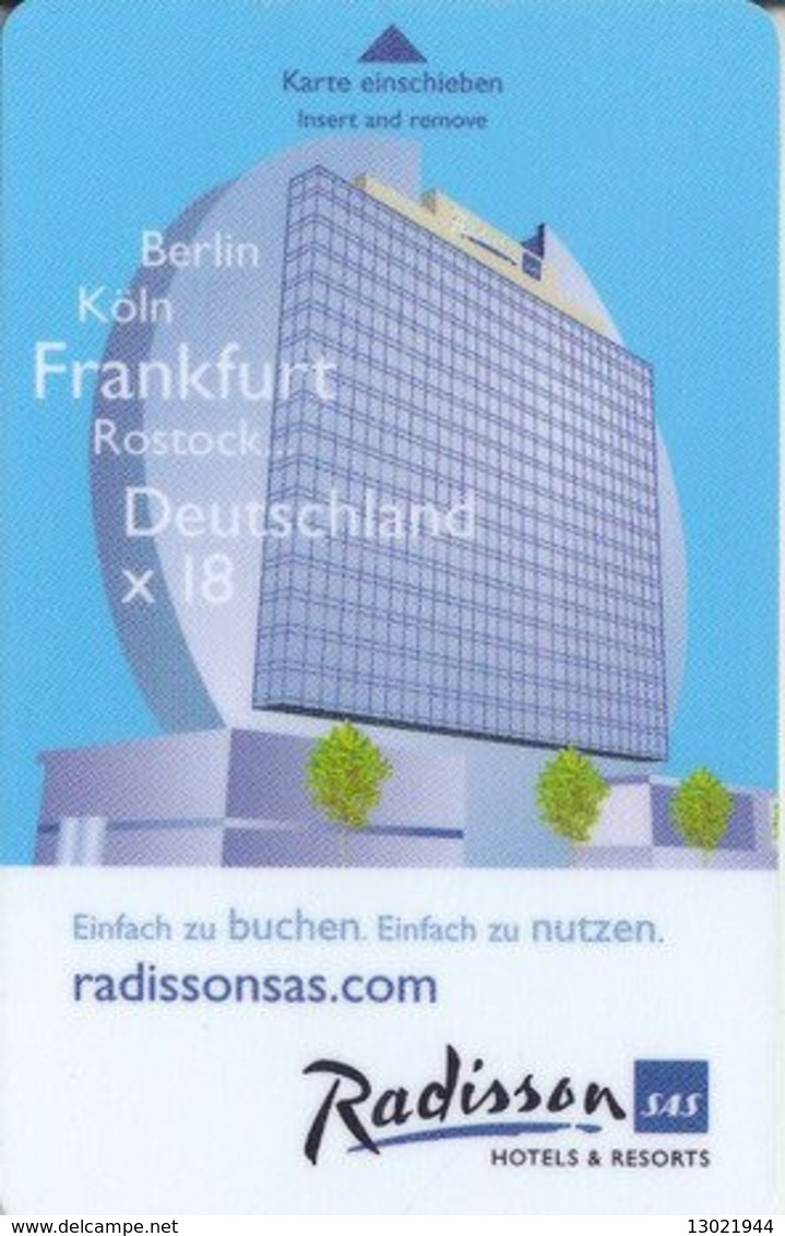GERMANIA  KEY HOTEL   Radisson SAS Frankfurt - Www.SEB.de - Hotelkarten