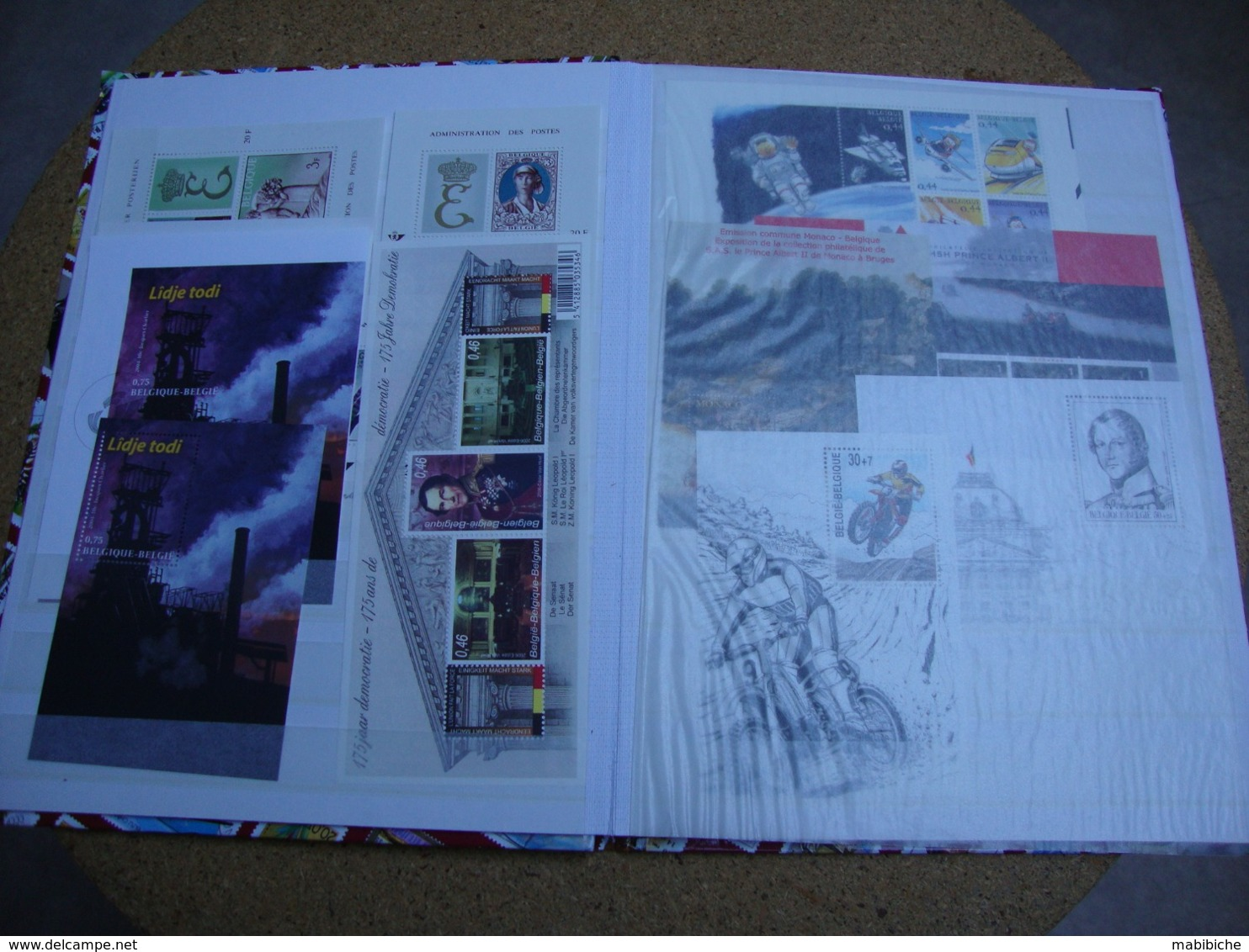 1 Petit Album De Stock De Timbres Belges - Sammlungen