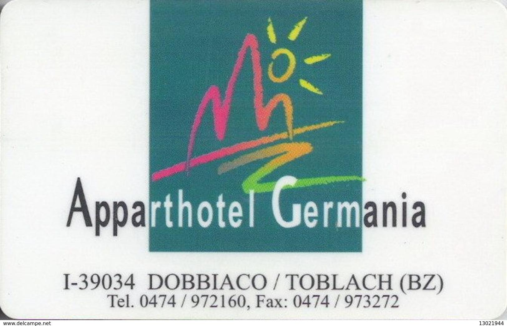 ITALIA  KEY HOTEL   Apparthotel Germania Dobbiacco - BOLZANO Italy - Hotelkarten