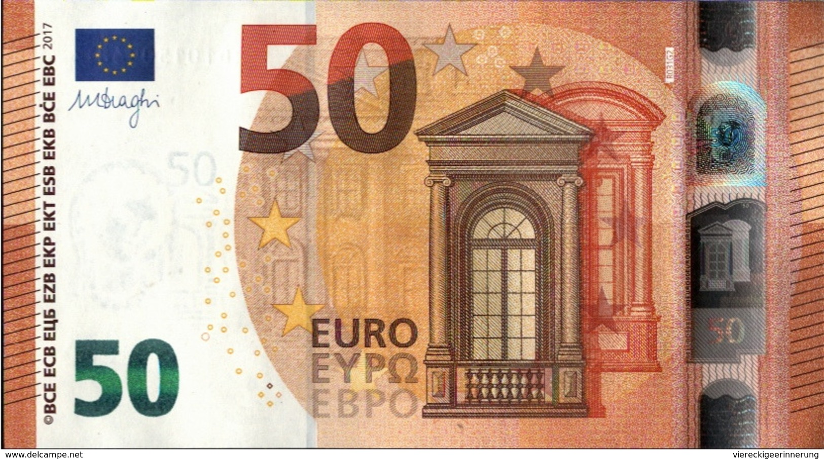 ! 50 Euro, R031G2, RD1015094874, Currency, Banknote, Billet Mario Draghi, EZB, Europäische Zentralbank - EURO