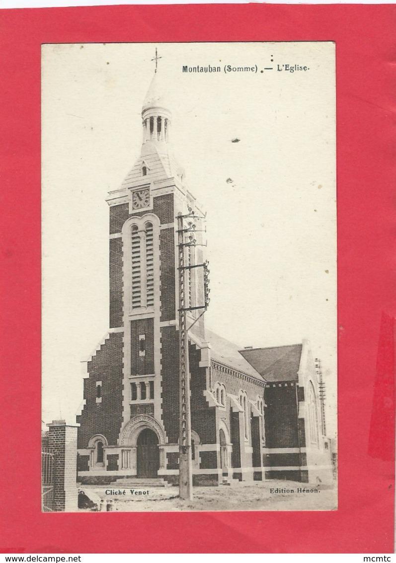 CPA - Montauban  (Somme)  - L'église - Autres Communes