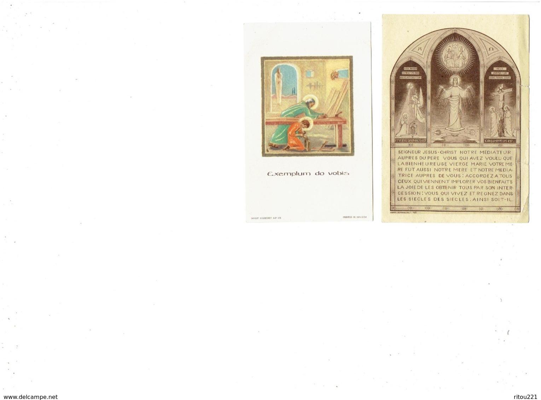 Image Pieuse - Lot 2 - Abbaye De Maredret Belgique - 405 - AP 176 - - Imágenes Religiosas