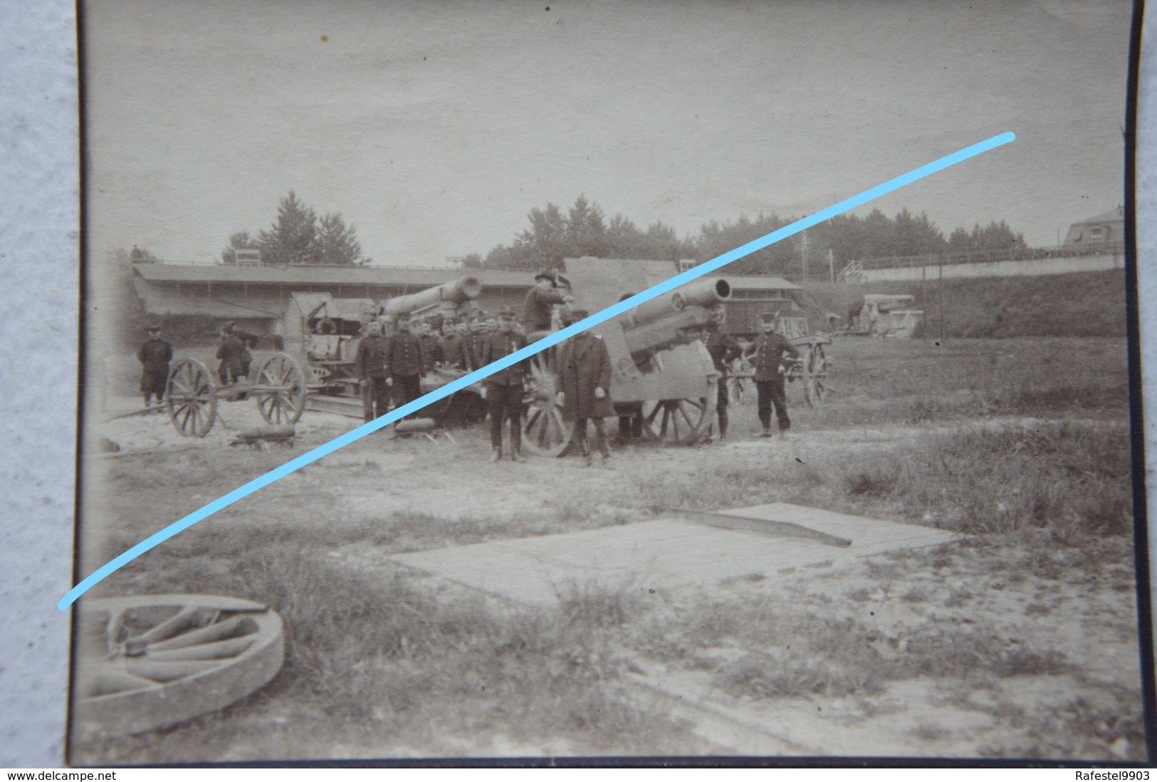 Photo ABL WW1 Canon Geschütz Artillerie Artillery Belgian Army Tenue Yser Ijzer - Guerre, Militaire